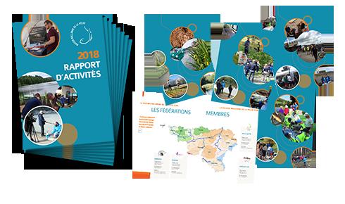 Illustration du rapport d'activités 2018 de la Maison de la pêche